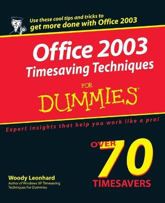 Office 2003 Timesaving Techniques For Dummies book
