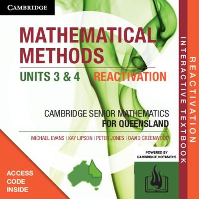 CSM QLD Mathematical Methods Units 3 & 4 Reactivation Card by Michael Evans