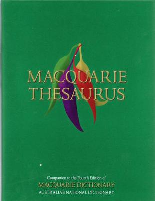 Macquarie Thesaurus by Macquarie Dictionary