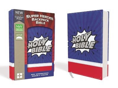 NIrV, Super Heroes Backpack Bible, Leathersoft, Blue/Red by Zonderkidz