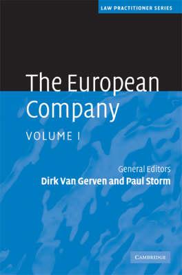 The Law Practitioner Series: The European Company 2 Volume Hardback Set by Dirk Van Gerven