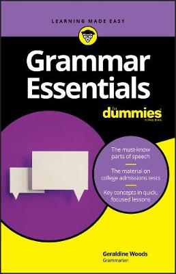 Grammar Essentials For Dummies by Geraldine Woods