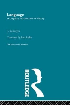 Language by J. Vendryes