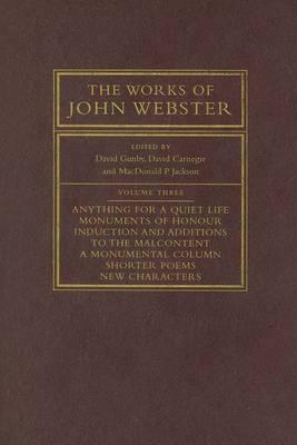 Works of John Webster by David Gunby