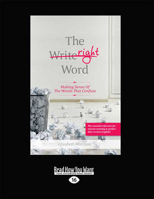 The Right Word by Elizabeth Morrison