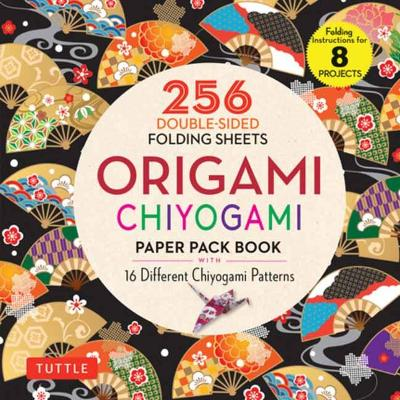 Origami Chiyogami Paper Pack Book: 256 Double-Sided Folding Sheets (Includes Instructions for 8 Projects) by Tuttle Publishing