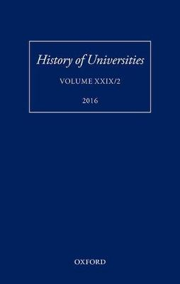History of Universities by Mordechai Feingold