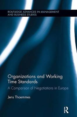 Organizations and Working Time Standards book