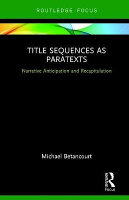 Title Sequences as Paratexts book