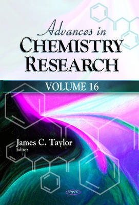 Advances in Chemistry Research book