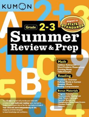 Summer Review & Prep: 2-3 by Kumon