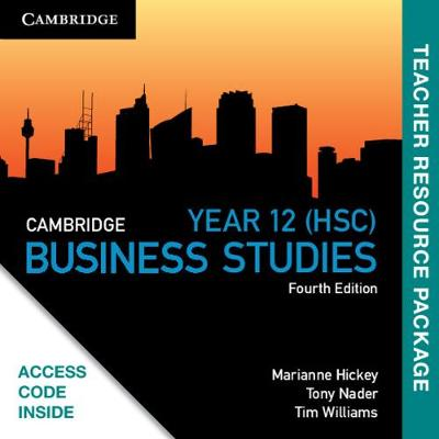 Cambridge HSC Business Studies Teacher Resource (Card) by Marianne Hickey