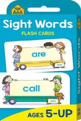 School Zone Beginning Sight Words Flash Cards (new cover) by