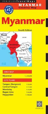 Myanmar Travel Map by Periplus Editions