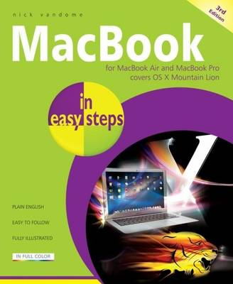 Macbook for Macbook Air and Macbook Pro Covers OS X Mountain Lion in Easy Steps by Nick Vandome