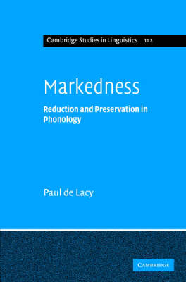 Markedness by Paul de Lacy