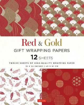 Red and Gold Gift Wrapping Papers: 12 Sheets of High-Quality 18 x 24 inch Wrapping Paper by Tuttle Editors