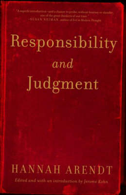 Responsibility And Judgment book