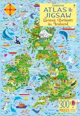 Usborne Atlas and Jigsaw Great Britain and Ireland by Sam Smith
