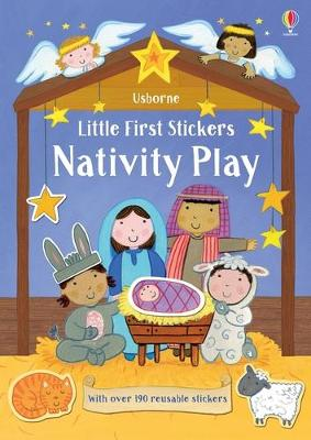 Little First Stickers Nativity Play book