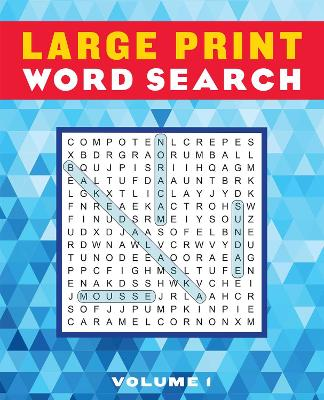 Large Print Word Search Volume 1 by Editors of Thunder Bay Press