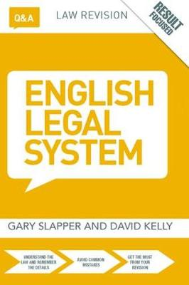 Q&A English Legal System by Gary Slapper
