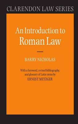 Introduction to Roman Law by Ernest Metzger