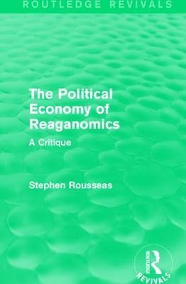 Political Economy of Reaganomics book