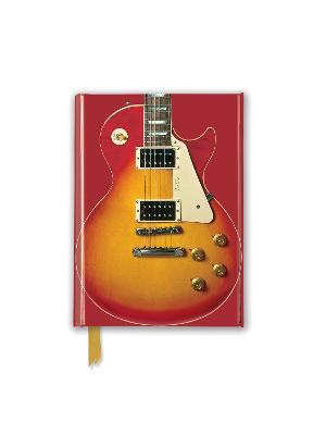 Gibson Les Paul Guitar, Sunburst Red (Foiled Pocket Journal) by Flame Tree Studio