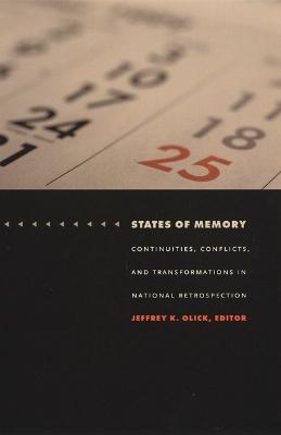 States of Memory by Jeffrey K. Olick