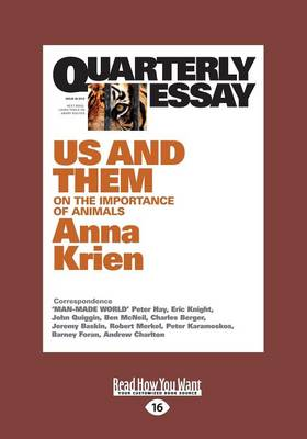 Quarterly Essay 45 Us and Them by Anna Krien
