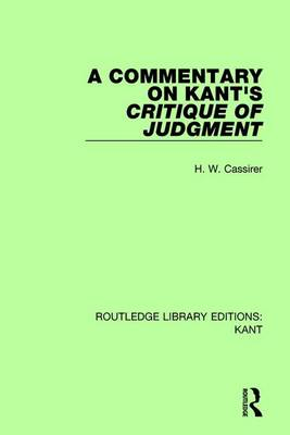Commentary on Kant's Critique of Judgement book