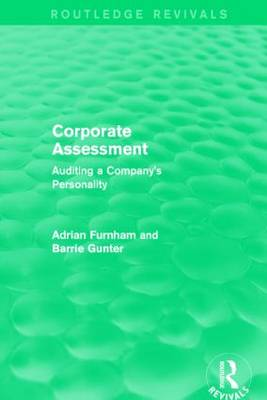 Corporate Assessment: Auditing a Company by Adrian Furnham