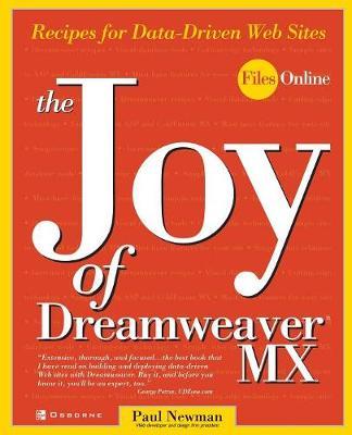 The Joy of DreamWeaver MX by Paul Newman