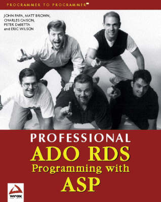 Professional Ado Rds Programming with Asp by Matt Brown