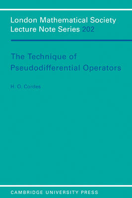 Technique of Pseudodifferential Operators book