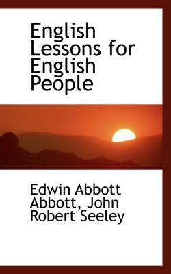English Lessons for English People book