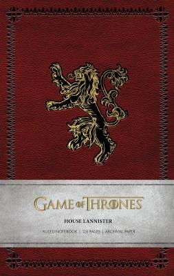 Game of Thrones: House Lannister Ruled Notebook by Insight Editions