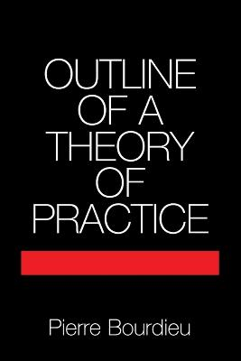 Cambridge Studies in Social and Cultural Anthropology: Series Number 16: Outline of a Theory of Practice by Pierre Bourdieu