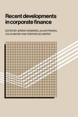 Recent Developments in Corporate Finance book