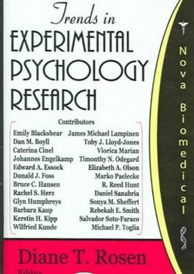 Trends in Experimental Psychology Research book