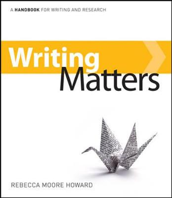 Writing Matters by Rebecca Moore Howard