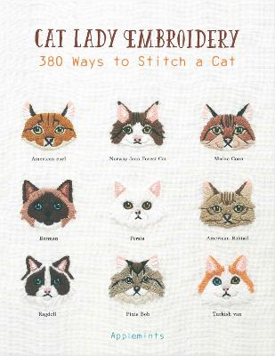 Cat Lady Embroidery by Applemints