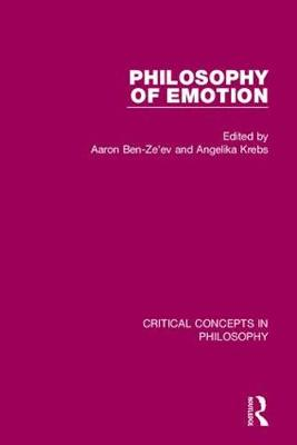 Philosophy of Emotion by Aaron Ben Ze'ev