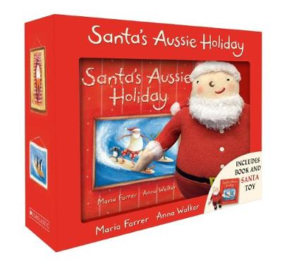 Santa's Aussie Holiday Boxed Set + Plush by Maria Farrer
