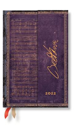 2022 Beethoven, Mini, (Week at a Time) Diary: Hardcover, Horizontal Layout, 100 gsm, wrap closure book