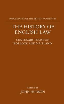 History of English Law book