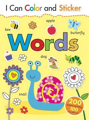 I Can Color and Sticker: Words by Gemma Cooper