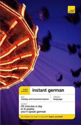 Teach Yourself Instant German New Edition: CD by Elisabeth Smith