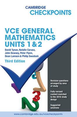 Cambridge Checkpoints VCE General Mathematics Units 1 and 2 by David Tynan